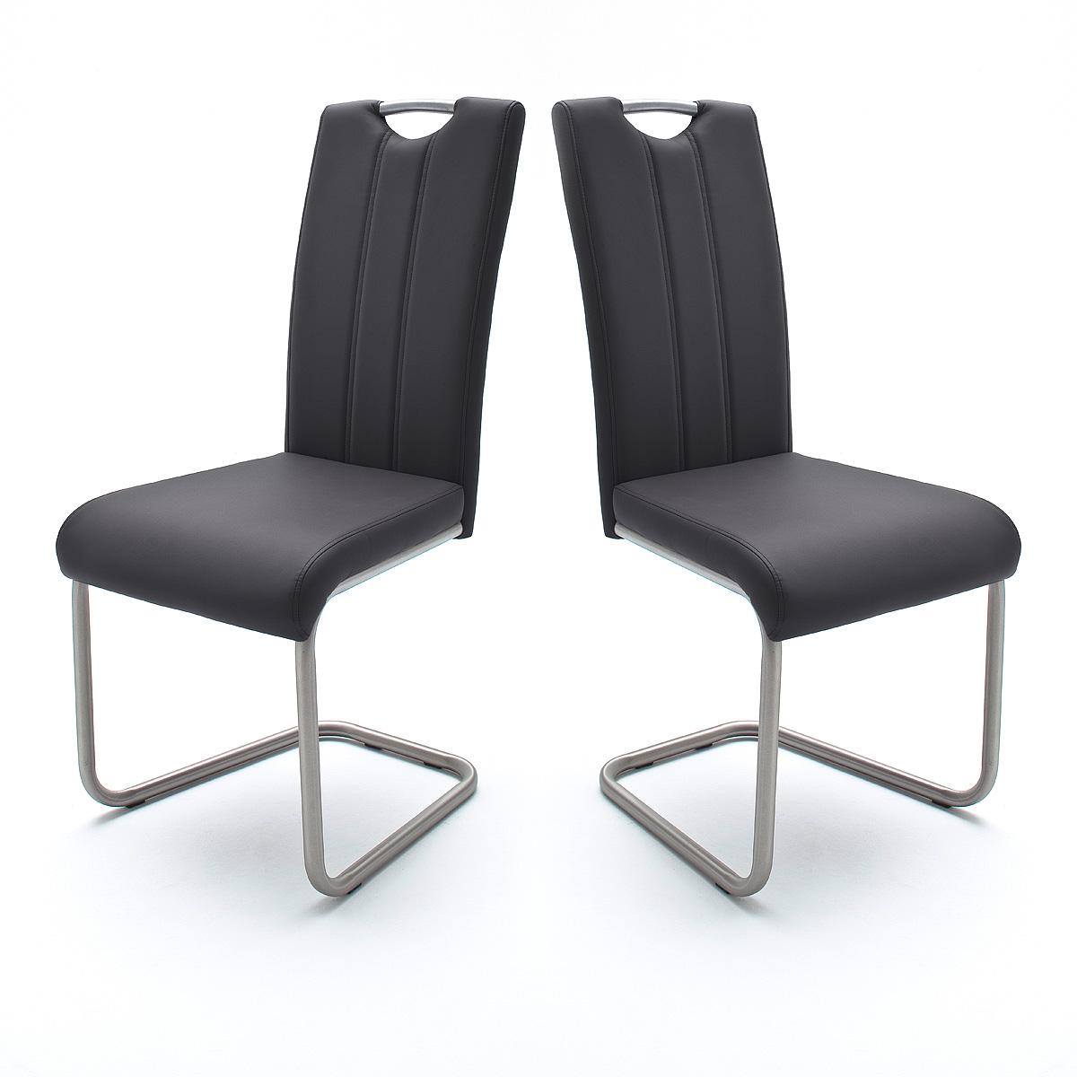 schwingstuhl 4er set marie stuhl esszimmerstuhl in schwarz. Black Bedroom Furniture Sets. Home Design Ideas
