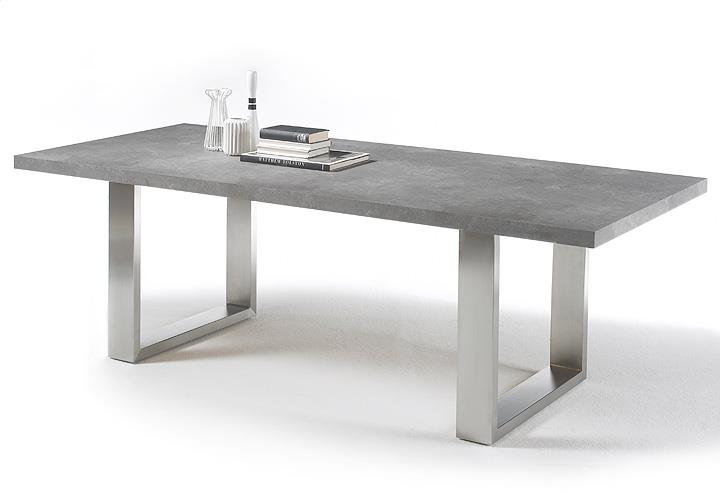 Esstisch ausziehbar grau  Esstisch Stone Tisch Esstisch Esszimmertisch anthrazit grau rost ...