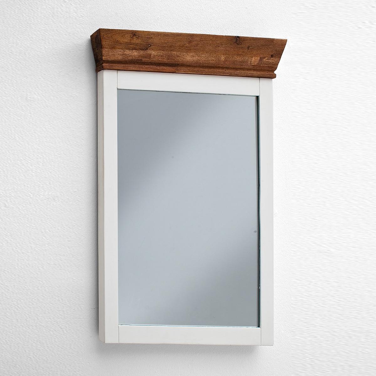 spiegel malin wandspiegel dekospiegel in akazie teilmassiv wei lack. Black Bedroom Furniture Sets. Home Design Ideas