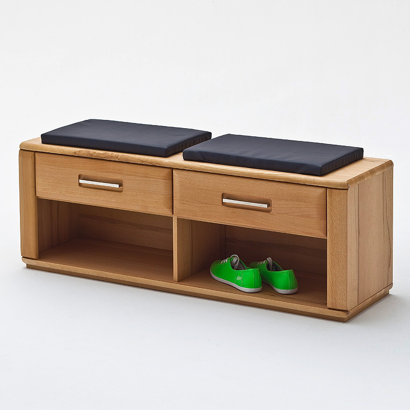 bank sena schuhbank garderobenbank garderobe in kernbuche teilmassiv ebay. Black Bedroom Furniture Sets. Home Design Ideas