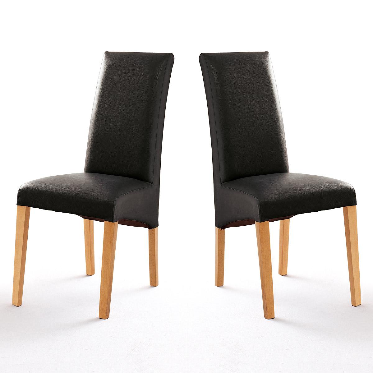 stuhl foxi 2er set polsterstuhl esszimmer lederlook. Black Bedroom Furniture Sets. Home Design Ideas