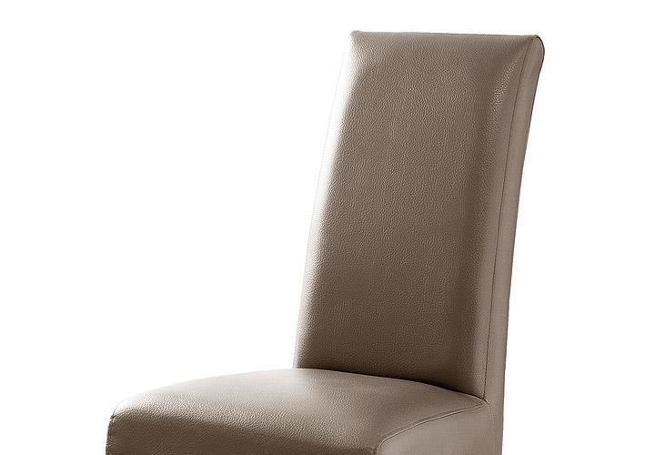stuhl foxi 2er set polsterstuhl esszimmer lederlook cappuccino und eiche ge lt ebay. Black Bedroom Furniture Sets. Home Design Ideas