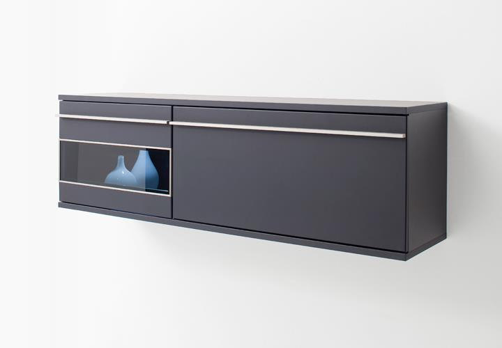 h ngeschrank black schwarz matt lackiert glas mit. Black Bedroom Furniture Sets. Home Design Ideas