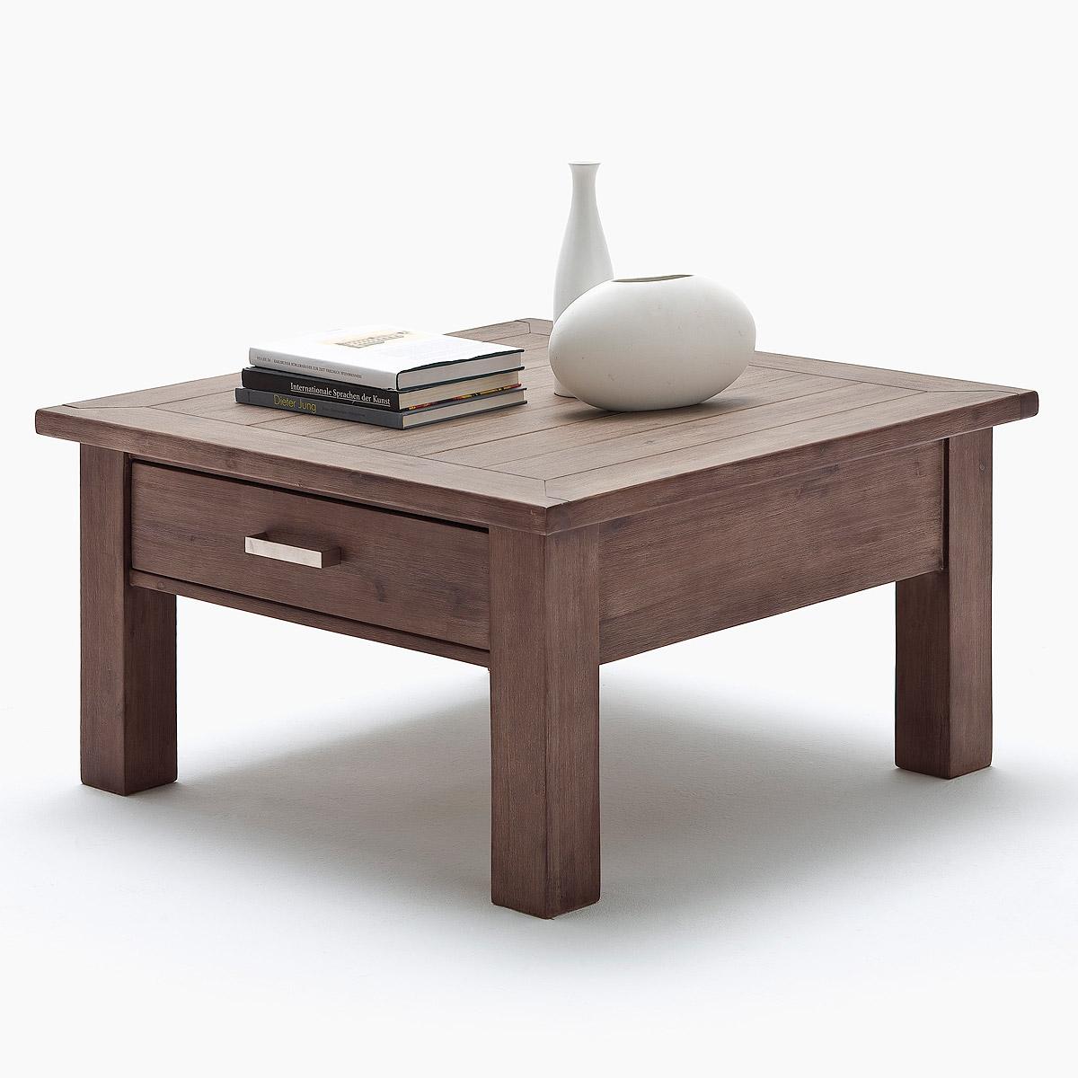 Couchtisch Akazie Largo Tisch Wohnzimmertisch Lava Teilmassiv Ebay