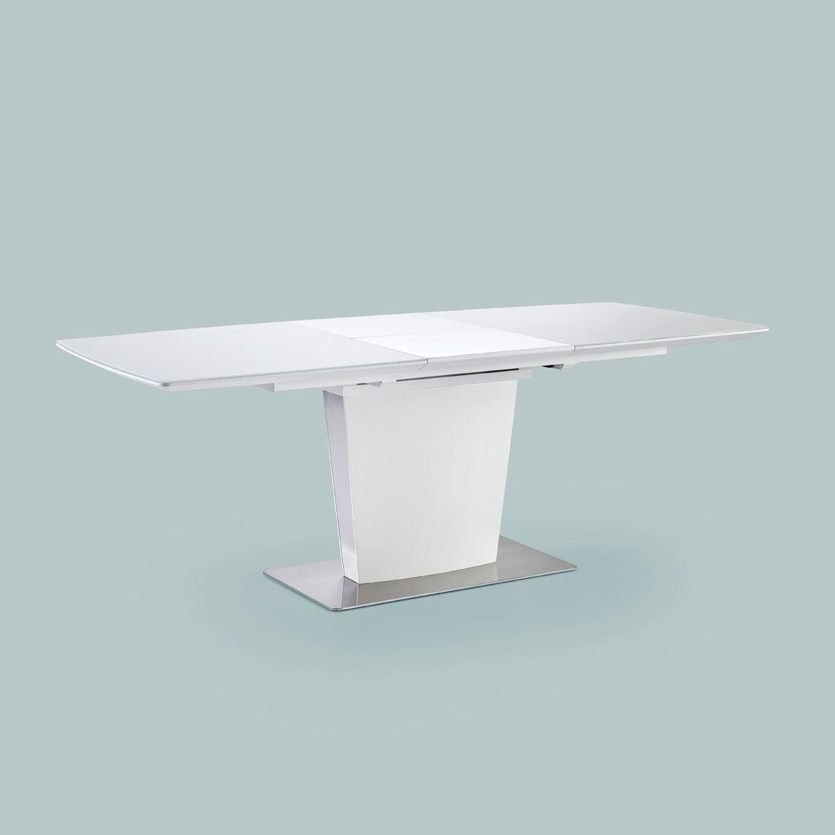 esstisch hanjo tisch esszimmertisch in wei matt lack mit. Black Bedroom Furniture Sets. Home Design Ideas
