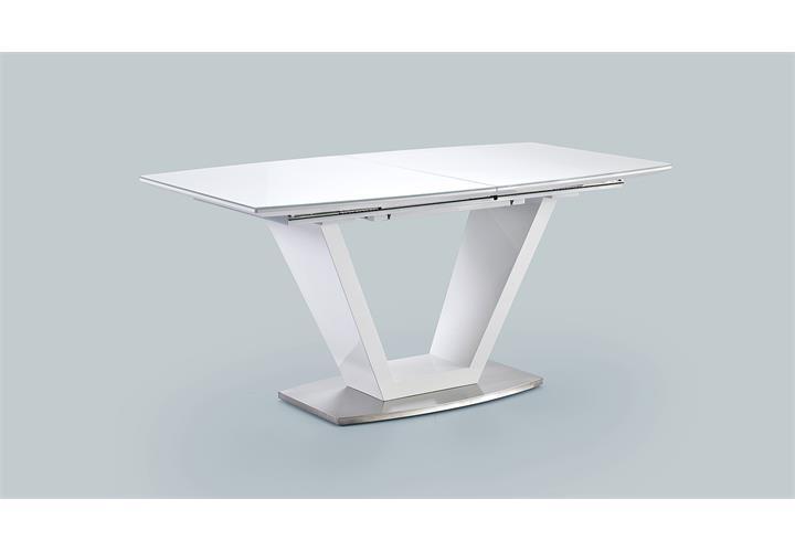 esstisch ilko tisch esszimmertisch in wei hochglanz lack. Black Bedroom Furniture Sets. Home Design Ideas