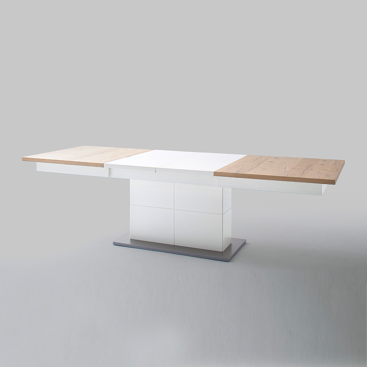 esstisch nizza tisch wei matt lack und crackeiche. Black Bedroom Furniture Sets. Home Design Ideas