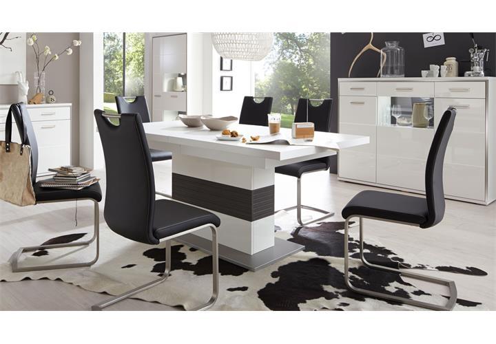Esstisch Trento ~ Esstisch Trento Säuelntisch Tisch ausziehbar weiß und grau 180280×100 cm • E