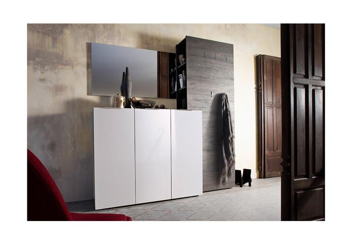 schuhschrank vicenza kommode garderobe schrank in wei hochglanz lackiert 120 cm ebay. Black Bedroom Furniture Sets. Home Design Ideas