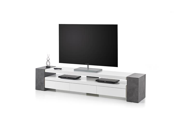 tv rack jule tv board lowboard unterschrank in wei matt. Black Bedroom Furniture Sets. Home Design Ideas