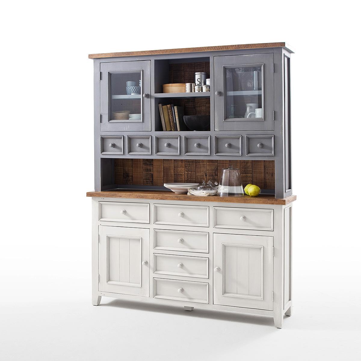 buffet byron schrank vitrine kiefer massiv in wei antik. Black Bedroom Furniture Sets. Home Design Ideas