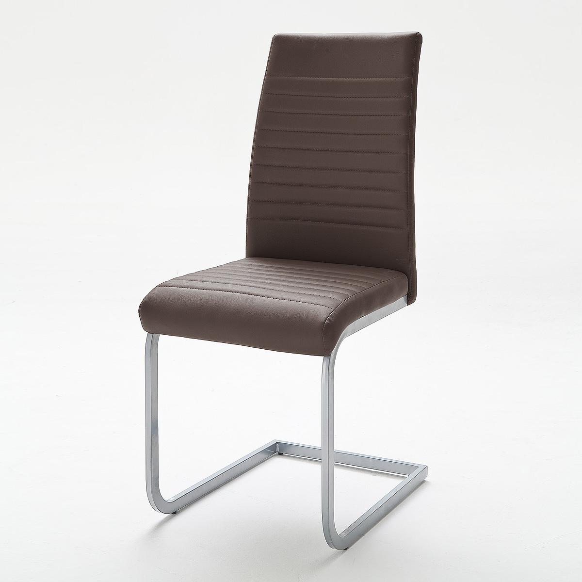 Schwingstuhl 4er set edna stuhl in braun cappuccino grau for Schwingstuhl cappuccino