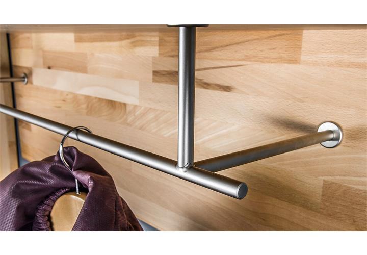 garderobenpaneel fenja garderobe paneel in kernbuche keilverzinkt massiv ge lt ebay. Black Bedroom Furniture Sets. Home Design Ideas