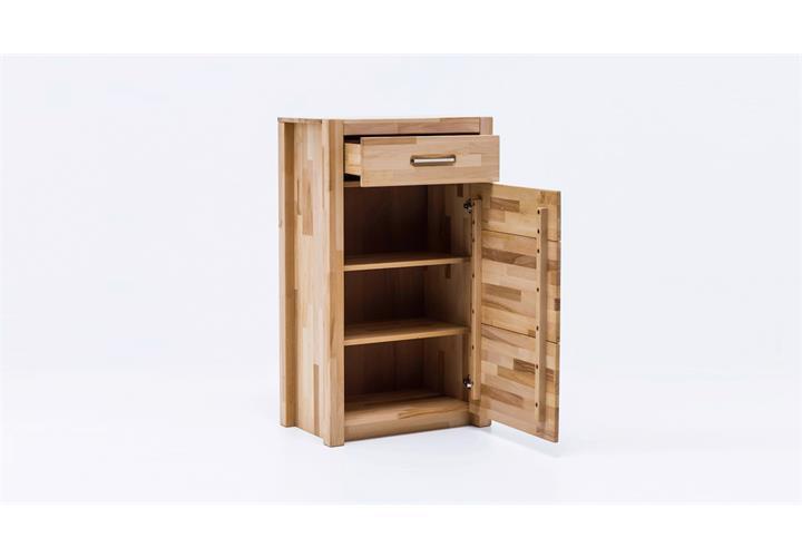 kommode fenja schuhschrank garderobe in kernbuche keilverzinkt massiv ge lt ebay. Black Bedroom Furniture Sets. Home Design Ideas