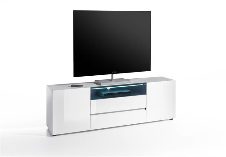 tv board vicenza lowboard unterschrank in wei hochglanz. Black Bedroom Furniture Sets. Home Design Ideas