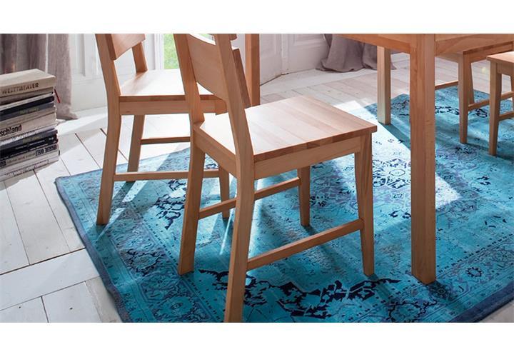 stuhl 2er set karin holzstuhl esszimmerstuhl k chenstuhl buche natur massiv ebay. Black Bedroom Furniture Sets. Home Design Ideas