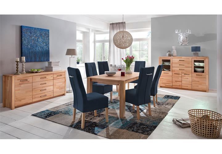 esstisch ferdis esszimmertisch k chentisch tisch in kernbuche massiv ausziehbar ebay. Black Bedroom Furniture Sets. Home Design Ideas
