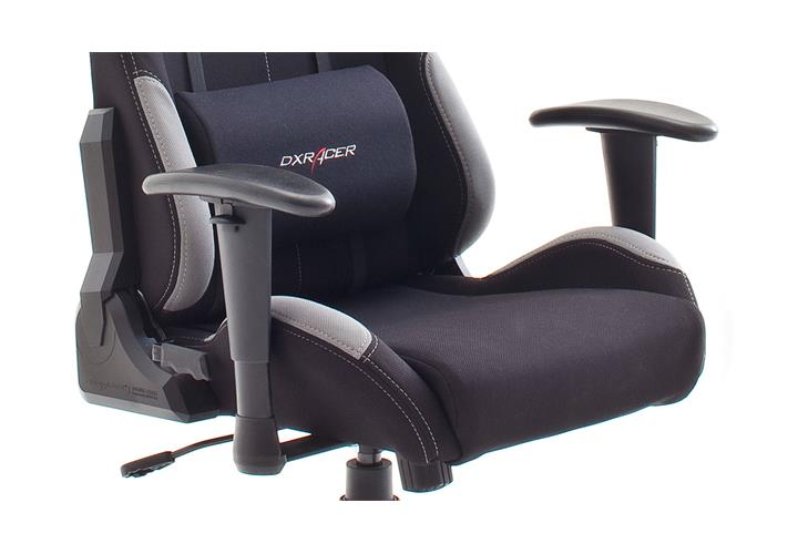schreibtischstuhl dx racer 5 b rostuhl game chair in schwarz und grau ebay. Black Bedroom Furniture Sets. Home Design Ideas