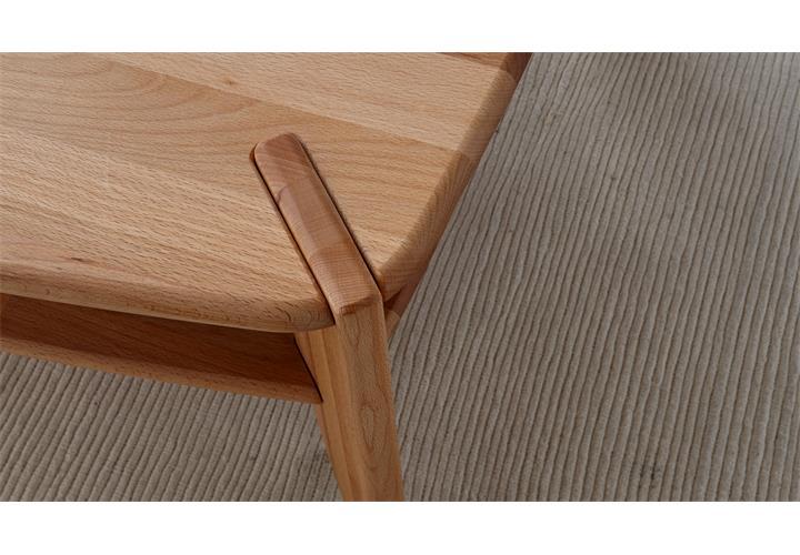 couchtisch tamme beistelltisch wohnzimmertisch in kernbuche massiv ge lt 115x75 ebay. Black Bedroom Furniture Sets. Home Design Ideas