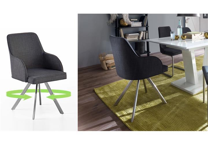 stuhl 2er set elara esszimmerstuhl 180 grad drehbar. Black Bedroom Furniture Sets. Home Design Ideas