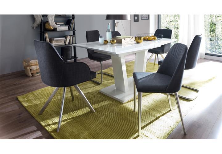stuhl 2er set elara esszimmerstuhl 180 grad drehbar stuhlsystem grau feingewebe ebay. Black Bedroom Furniture Sets. Home Design Ideas