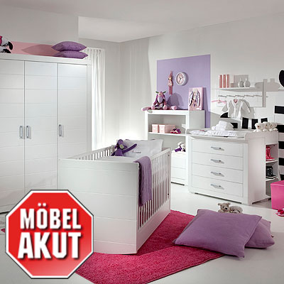 babyzimmer 7 teilig mini 01 meise kinderzimmer set 2 wei. Black Bedroom Furniture Sets. Home Design Ideas