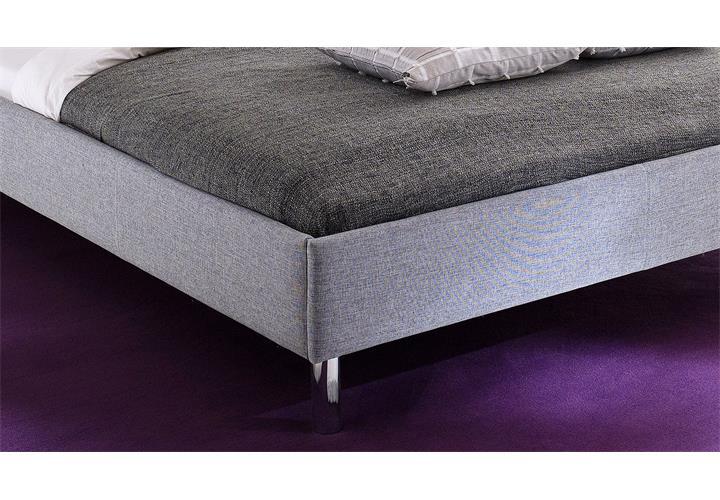 bett hip hop jugendzimmerbett polsterbett doppelbett stoff in grau 140x200 cm eur 218 95. Black Bedroom Furniture Sets. Home Design Ideas