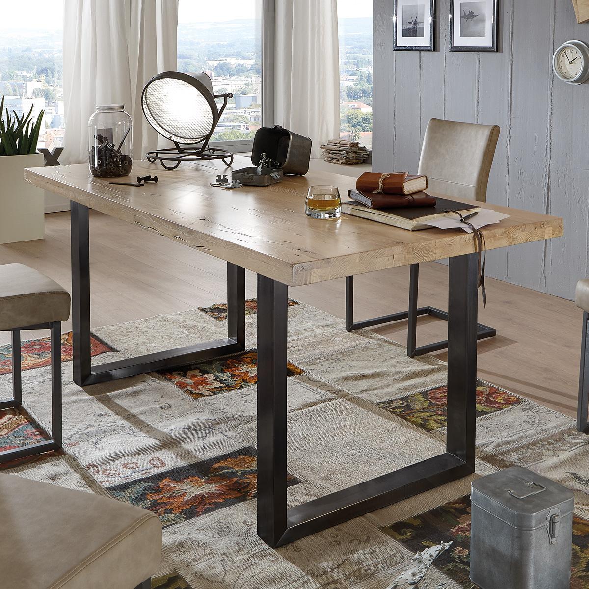 esstisch brooklyn esszimmertisch eiche massiv platte gr e. Black Bedroom Furniture Sets. Home Design Ideas
