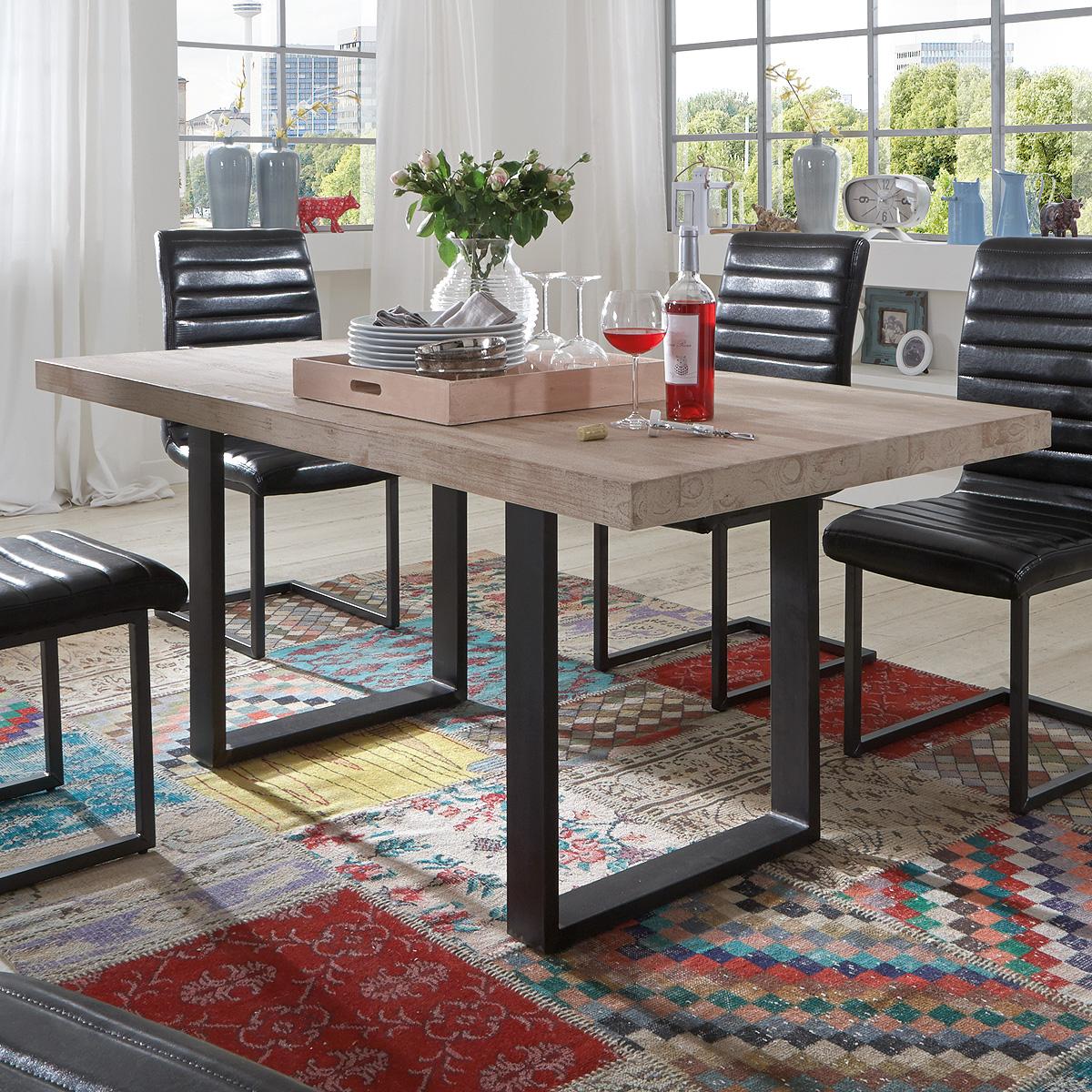esstisch miami beach esszimmertisch tisch eiche massiv farbe und gr e auswahl ebay. Black Bedroom Furniture Sets. Home Design Ideas