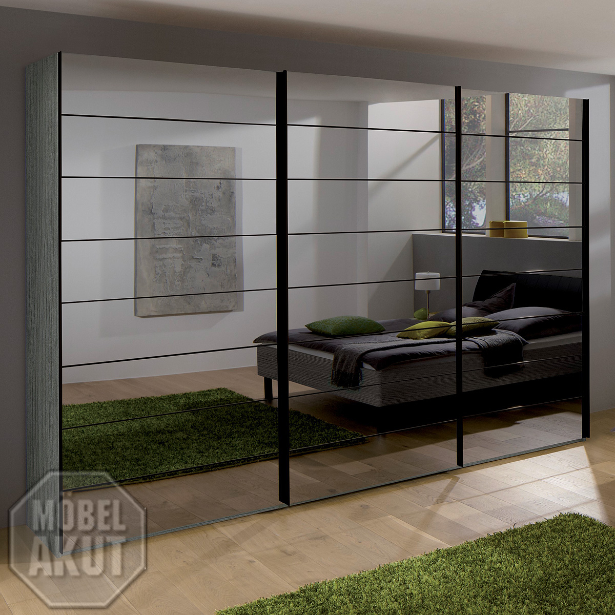 kleiderschrank marcato von nolte silbereiche spiegel b 300 ebay. Black Bedroom Furniture Sets. Home Design Ideas