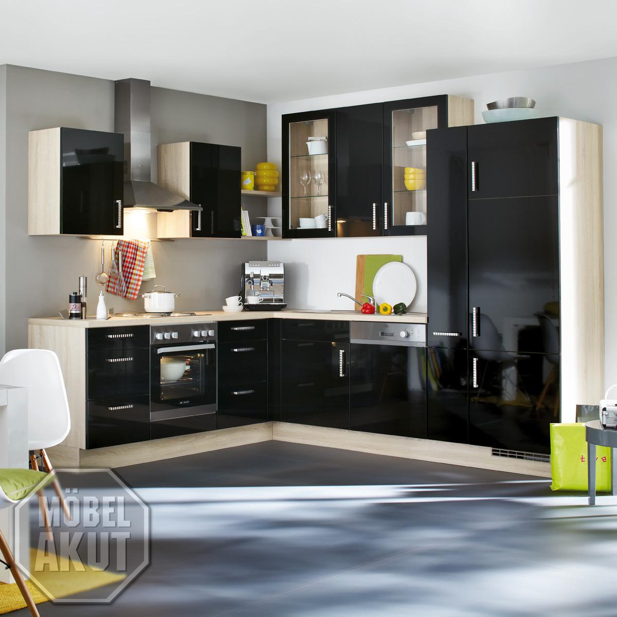 einbaukuche nobilia l kuche kuche inkl e gerate. Black Bedroom Furniture Sets. Home Design Ideas