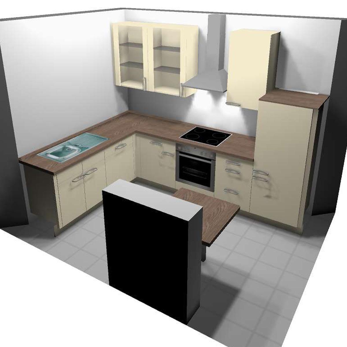 einbauk che l form. Black Bedroom Furniture Sets. Home Design Ideas