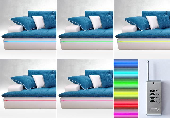Big Sofa Contempo Megasofa Loungesofa in weiß türkis inkl