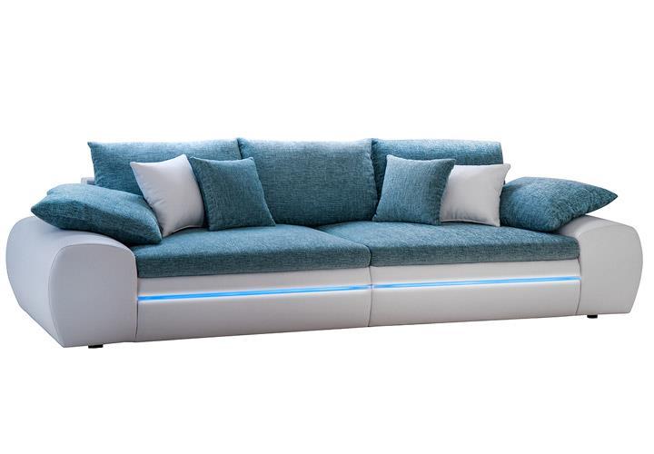 big sofa dubai megasofa wohnlandschaft wei t rkis inkl. Black Bedroom Furniture Sets. Home Design Ideas