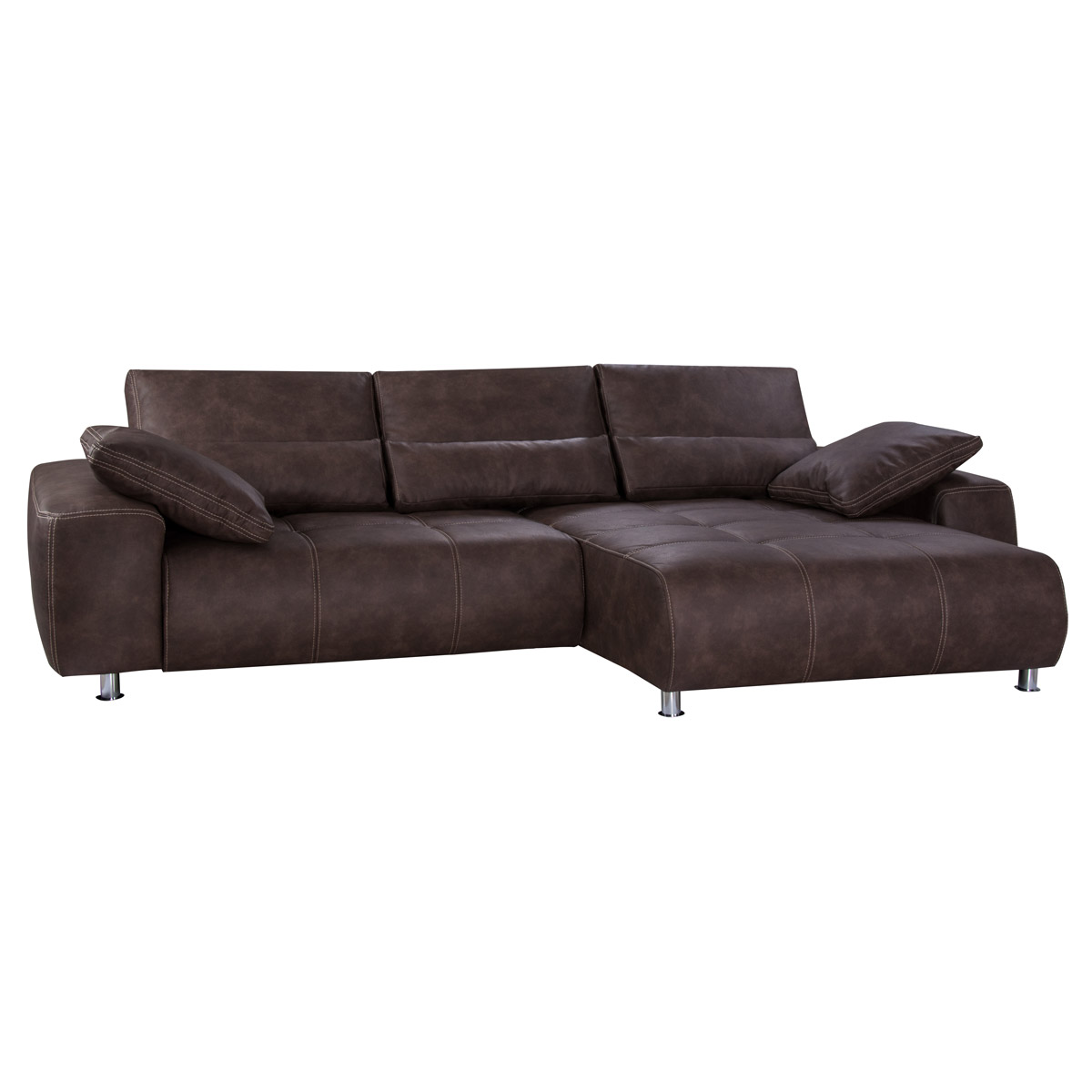 ecksofa briatore darkbrown braun schlafsofa mit bettkasten. Black Bedroom Furniture Sets. Home Design Ideas