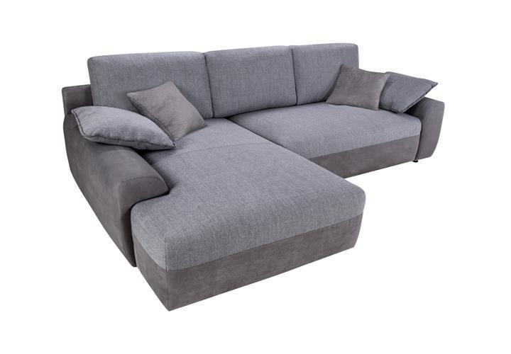 wohnlandschaft hastings grau sofa ecksofa mit bettfunktion. Black Bedroom Furniture Sets. Home Design Ideas