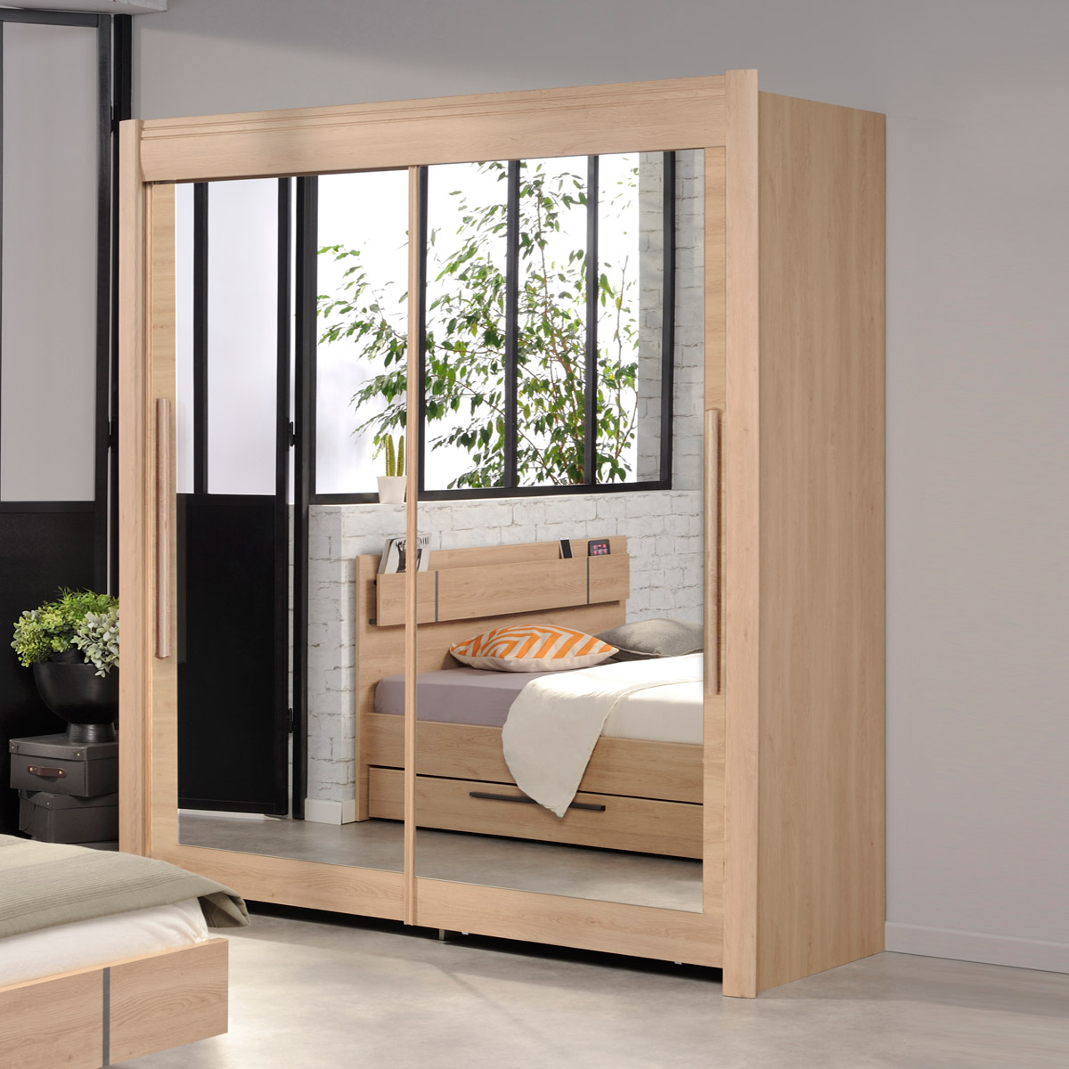 schwebet renschrank celebrity kleiderschrank schrank in wei braun oder eiche ebay. Black Bedroom Furniture Sets. Home Design Ideas