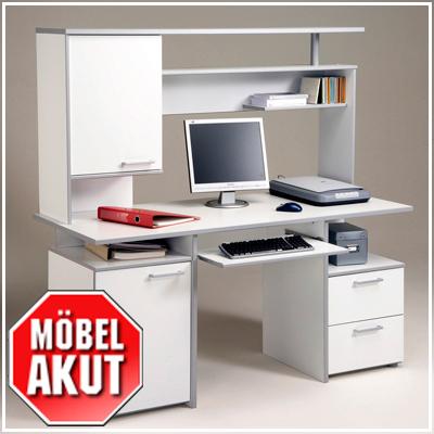 pc tisch aufsatz kiko in silber grau wei neu ebay. Black Bedroom Furniture Sets. Home Design Ideas