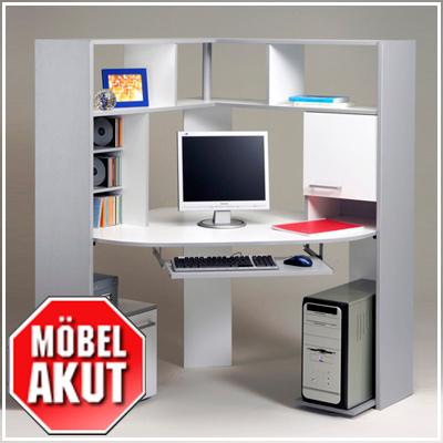 pc tisch kiko schreibtisch in silber grau wei neu ebay. Black Bedroom Furniture Sets. Home Design Ideas