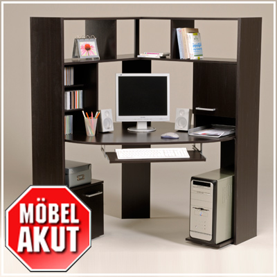 pc tisch kiko schreibtisch in wenge ecktisch neu ebay. Black Bedroom Furniture Sets. Home Design Ideas
