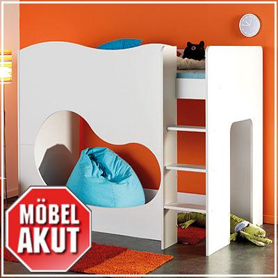 hochbett recre etagenbett bett kinderbett in wei 90x200. Black Bedroom Furniture Sets. Home Design Ideas