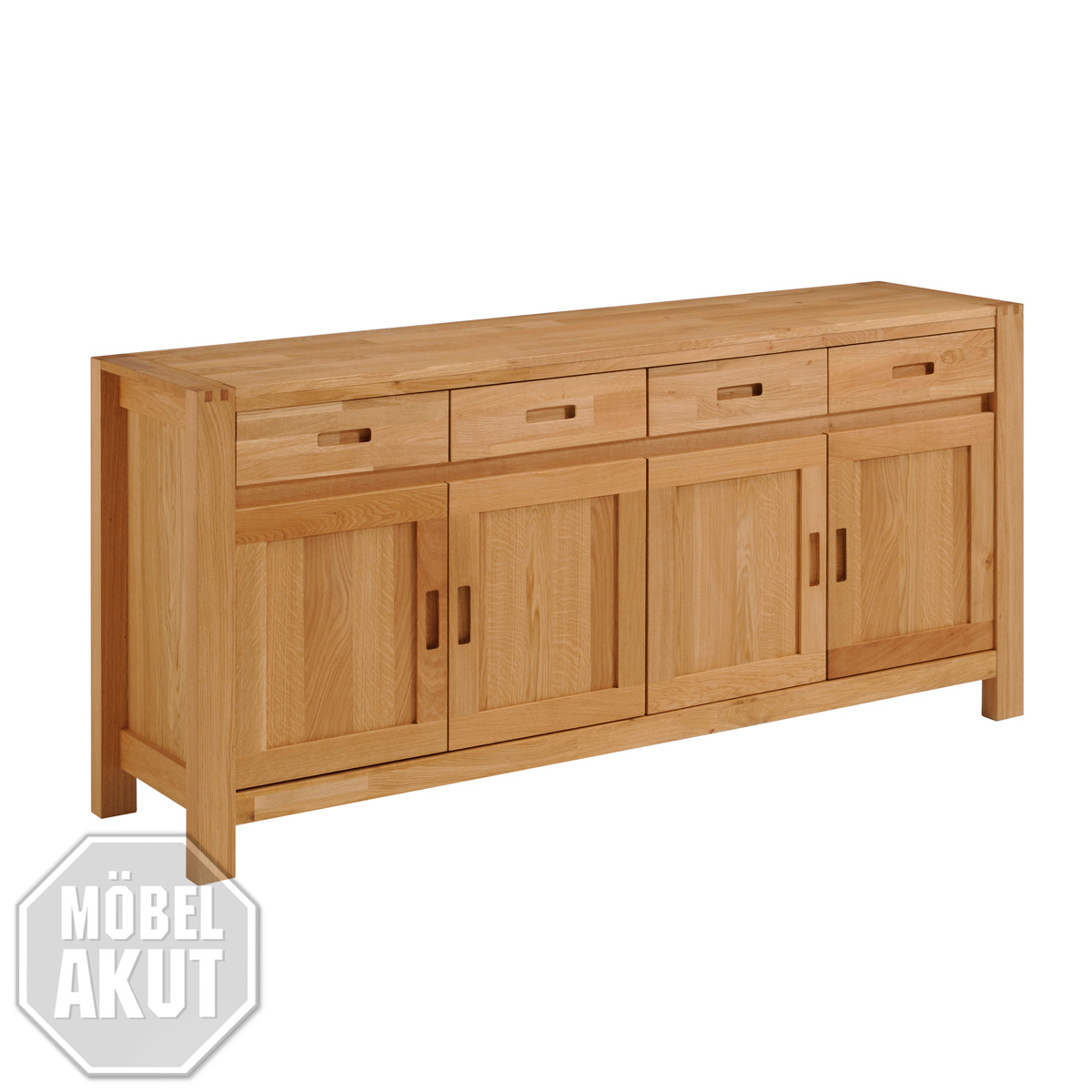 sideboard ethan kommode anrichte mit spiegel in eiche massiv ge lt 182 cm ebay. Black Bedroom Furniture Sets. Home Design Ideas