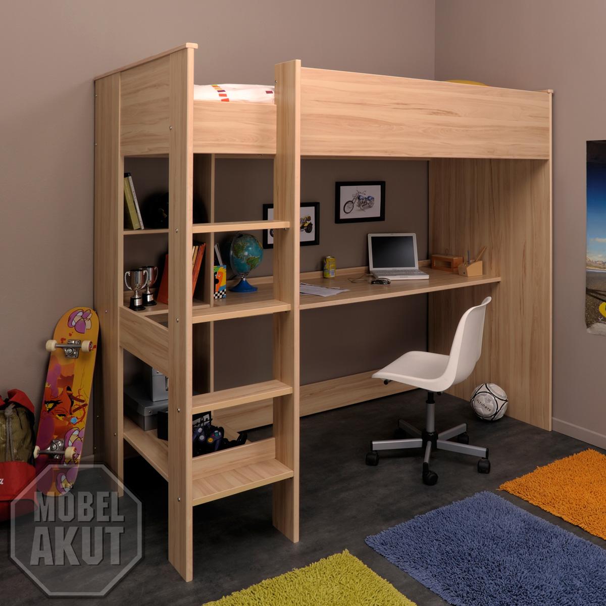 hochbett kurt etagenbett mit schreibtisch und kommode in. Black Bedroom Furniture Sets. Home Design Ideas