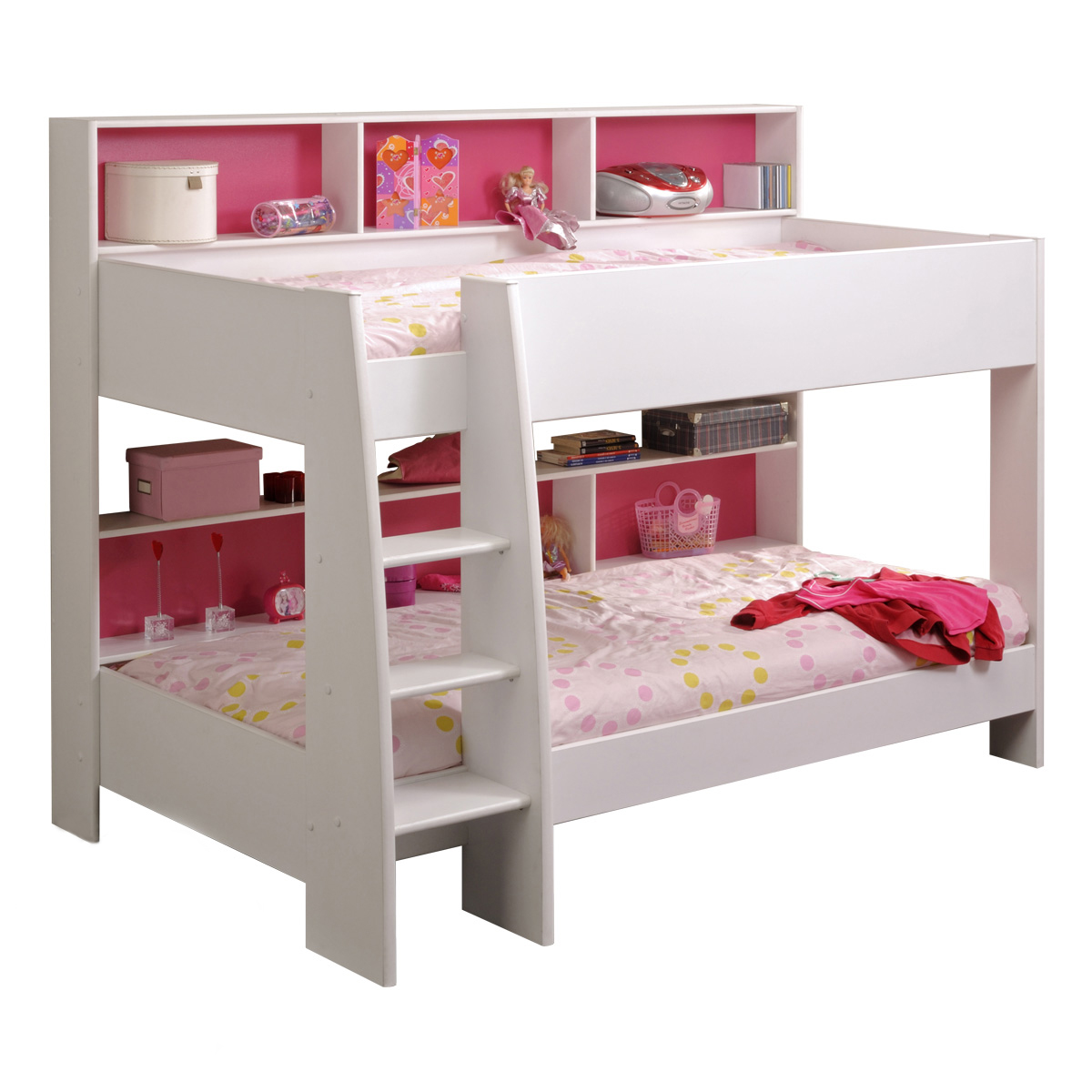 etagenbett tam tam hochbett kinderzimmer jugendbett in weiss mit leiter ebay. Black Bedroom Furniture Sets. Home Design Ideas