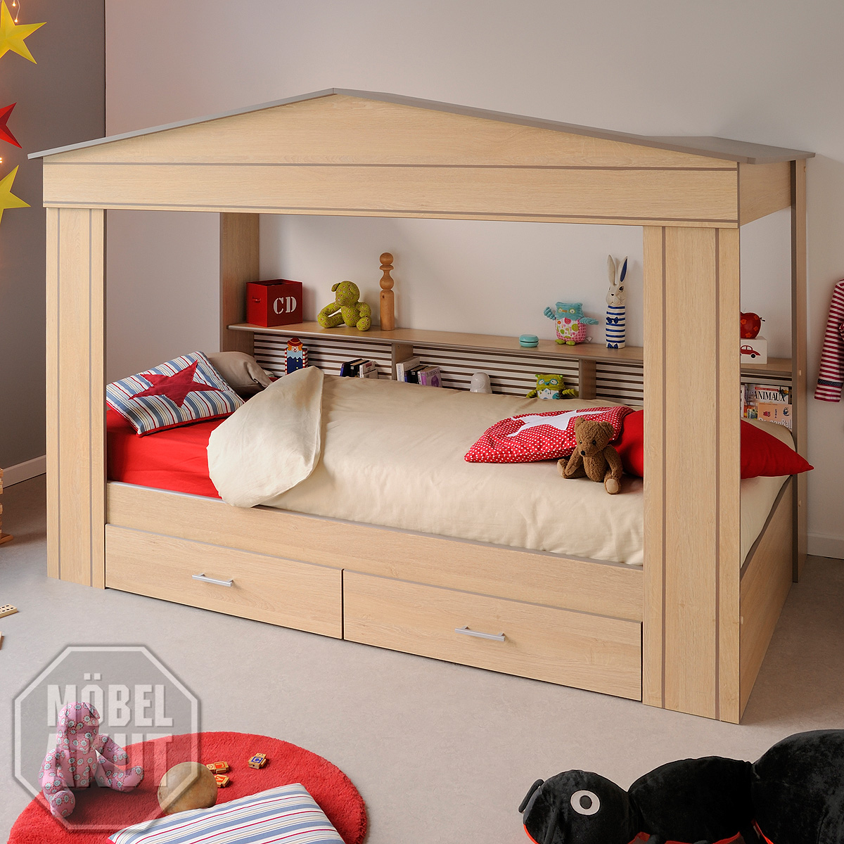 kinderbett mini casa bett kinderzimmerbett in hausbett in. Black Bedroom Furniture Sets. Home Design Ideas