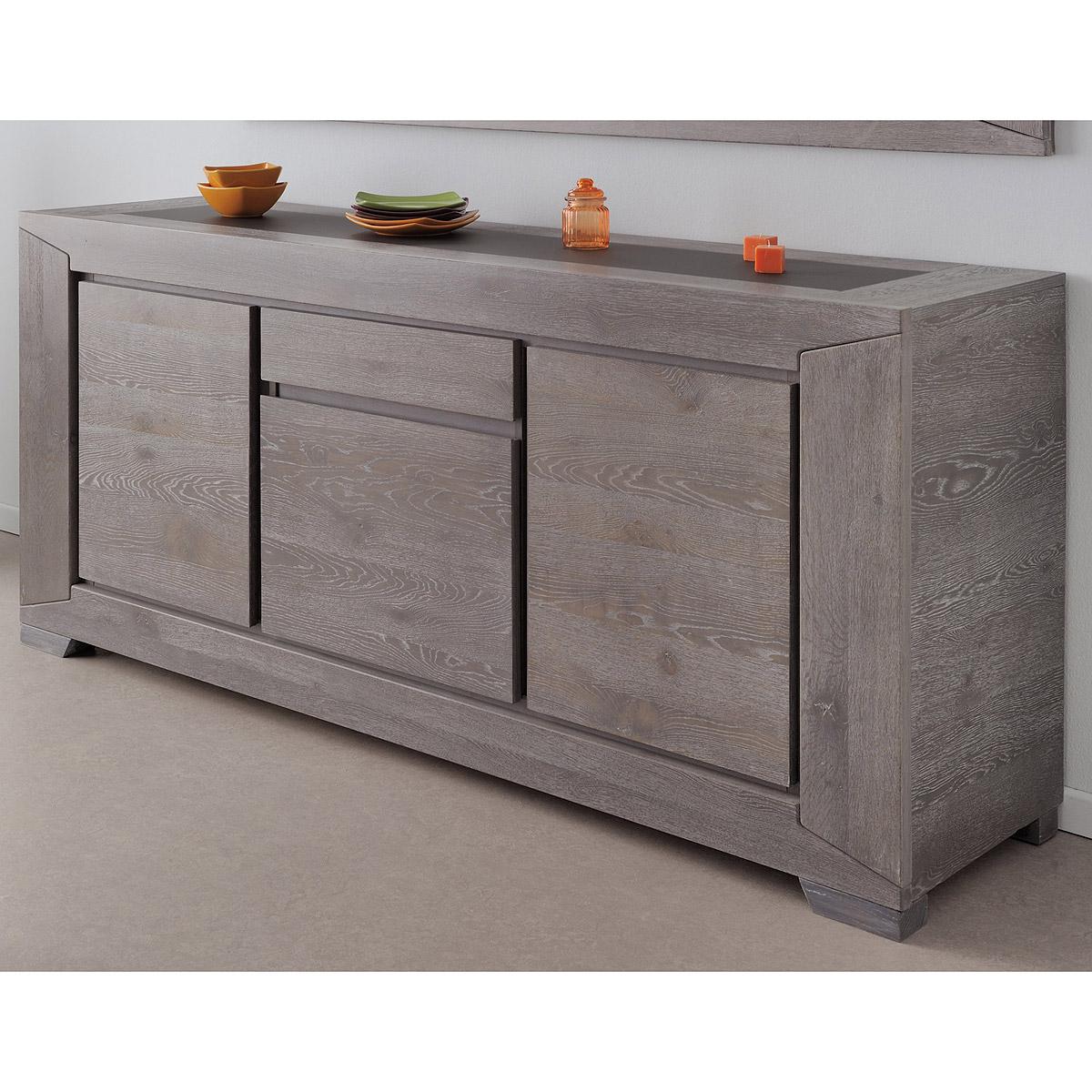 sideboard titan kommode anrichte in eiche grau teilmassiv 195 cm ebay. Black Bedroom Furniture Sets. Home Design Ideas