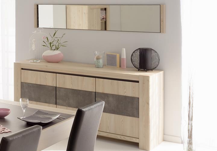 Spiegel chris esszimmer wandspiegel mit rahmen eiche dekor for Esszimmer spiegel