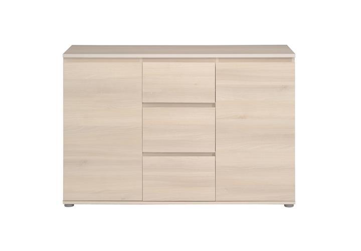 kommode neo 34 sideboard anrichte in akazie 109 mit 2 t ren 3 schubk sten ebay. Black Bedroom Furniture Sets. Home Design Ideas