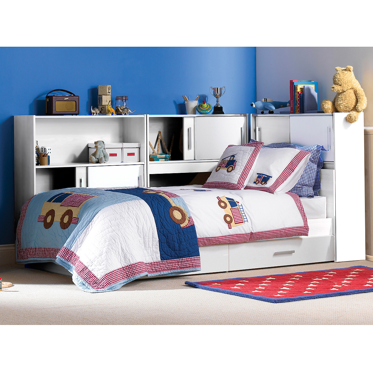 jugendbett snoop stauraumbett bett kinderbett in wei. Black Bedroom Furniture Sets. Home Design Ideas