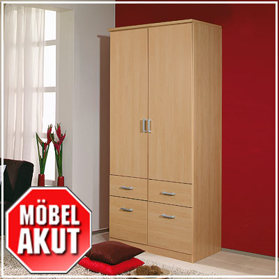 kleiderschrank power schrank buche hell b 91 cm ebay. Black Bedroom Furniture Sets. Home Design Ideas